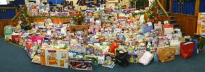 Toys to be given out, including toys donated through Giving World